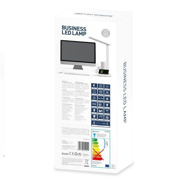 Настольная светодиодная лампа PLATINET 18W белая с беспроводной зарядкой устройств [PDL081W] 3