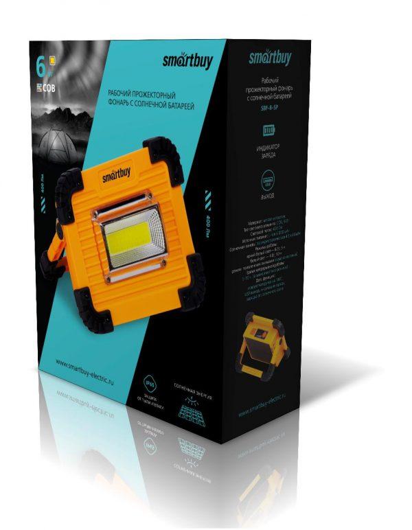 Рабочий фонарь с солнечной батареей, Smartbuy 4