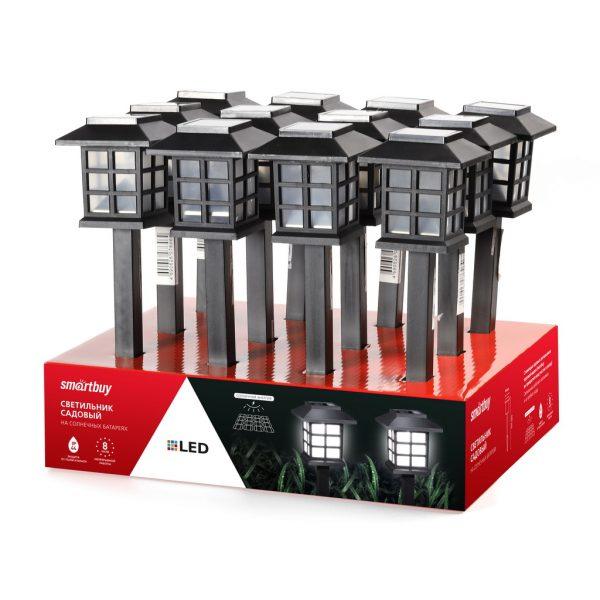 Садовый светильник Smartbuy на солнечной батарее, пластик, 8,6x8,6x38 см (SBF-112) 2