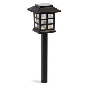 Садовый светильник Smartbuy на солнечной батарее, пластик, 8,6x8,6x38 см (SBF-112)